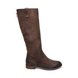 "STEVE MADDEN ""Asabby"" Brown Leather Boot - Sz 5.5"